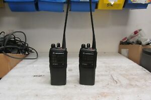Lot Of 2 Motorola Uhf Ht750 16ch 4 Watt Uhf Radio