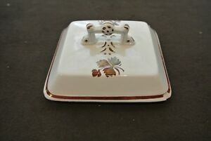Vintage Tea Leaf Lustre Ware Ironstone Lid 5 1 4 By 5 1 4 Wide With Chips