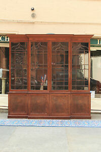 Fantastic Bookcase English Wooden Mahogany First Half From 800 Bookcase
