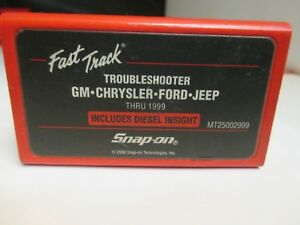 Snap On Gm Ford Jeep Thru 1999 Domestic Troubleshooter Scanner Cartridge Mt2500