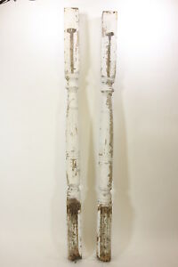 2 Matching 97 Tall Antique Porch Posts Architectural Salvage Primitive Rustic