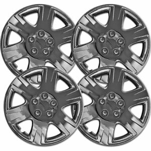 Set Of 4 Hubcaps Fits 05 08 Toyota Corolla 15 Chrome Replacement Wheel Rim Skin