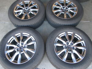 Four 2014 2018 Mazda Cx9 Factory 18 Wheels Tires Oem Rims 9965288080
