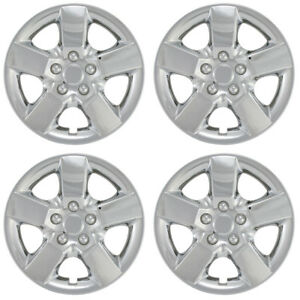Set Of 4 16 Inch Snap On Chrome Hub Caps For 2008 2013 Nissan Rogue