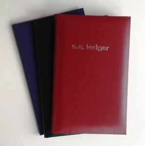 Mead Single Entry Ledger Books 9 9 16 X 6 1 8 160 Pages Hardbound Cover Set 3