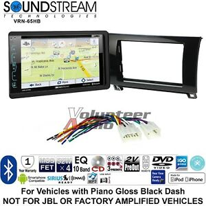 Soundstream Vrn 65hxb Navigation Double Din Dvd Dash Install Kit Bluetooth