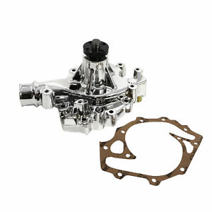Bbf 429 460 High Volume Chrome Mechanical Aluminum Water Pump 5 8 Pilot Ford