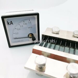 Us Stock Dc 0 1000a Analog Amp Current Needle Panel Meter Ammeter Xt 72