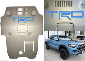 Cavalry Blue Premium Vinyl Trd Skid Plate Inserts For 2016 2018 Toyota Tacoma