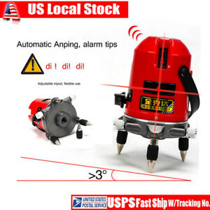 5 Line 6 Point Automatic Self Leveling Rotary Laser Level Meter Measure Usa Sale