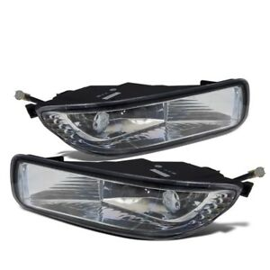For 2003 2004 Toyota Corolla Clear Lens Chrome Housing Replacement Fog Light