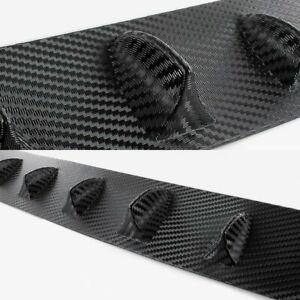 Fit Honda Civic 4dr Gen 8th Carbon Style Rear Roof Shark Fin Vortex Spoiler Wing