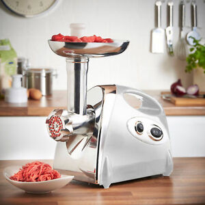 Electric Meat Grinder Sausage Stuffer Maker Stainless Cutter Home Kitchen Use