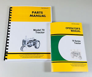 Operator Parts Manual Set For John Deere 70 Series Tractor Gas Owner Catalog