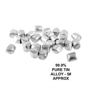 Pure Tin 99 9 Casting Metal 5 Lb Approx Pack