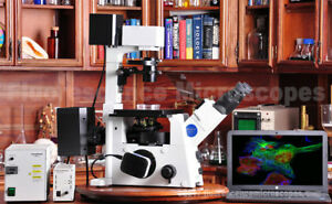 Olympus Ix71 Inverted Fluorescence Phase Contrast Microscope 1 Year Warranty