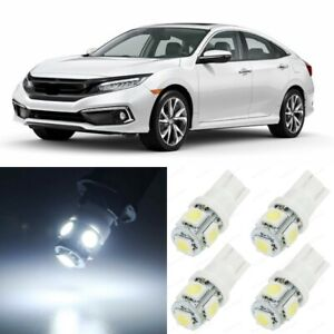 10 X Xenon White Interior Led Lights Package For 2013 2019 Honda Civic Tool