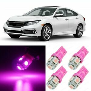 10 X Ultra Pink Interior Led Lights Package For 2013 2019 Honda Civic Tool