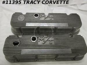 1965 80 Bb Chevy Mickey Thompson Used 3276396 Finned Aluminum Valve Covers Pair