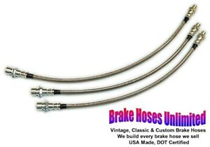 Stainless Hose Set Ford Truck 1 2 Ton 1942 1946 1947 1948 Except F1