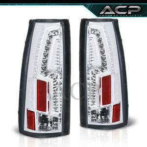 Chrome Led Tail Lights Fits 88 98 C10 C K Suburban Tahoe Sierra Yukon Silverado