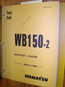 Komatsu Wb150 2 Parts Manual Book Catalog Tractor Backhoe Loader Guide List