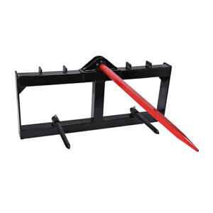 11x 49 Tractor Hay Spear Attachment 3 000 Lb Spike Skid Steer Quick Tach Bobcat