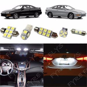 8x White Led Interior Lights Package Kit For 1994 2001 Acura Integra Tool Ag1w