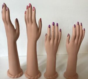 4 Vintage Rubber 15 12 Mannequin Hands Female Right Left Set Lot Display