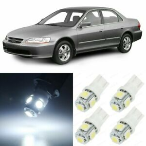 14 X Xenon White Interior Led Lights Package For 1998 2002 Honda Accord Tool