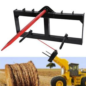 49 Tractor Hay Spear Attachment Front Loader 3000lb Fit Full Sized Skid Steers
