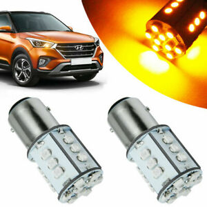 2x High Power 24 Smd Amber 1157 Led Bulbs Front Turn Signal Lamps Lights 3000k