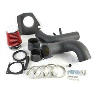 V8 4 6l Black Piping Cold Air Intake System W Filter For 1996 2004 Ford Mustang