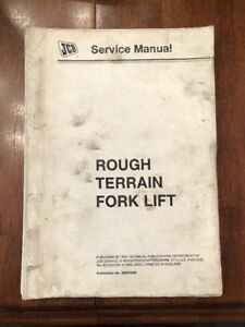 Jcb Rough Terrain Fork Lift Model 400 Service Manual Manual No 9803 3360