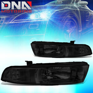 For 1999 2003 Mitsubishi Galant Replacement Driving Headlight lamps Smoked Clear