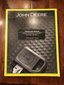John Deere Utility Vehicle E gator Operators Manual Omm135735 E9 Gator English