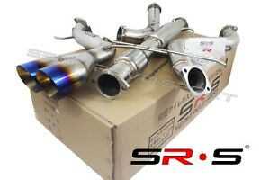 Srs Catback Exhaust System W Down Pipe For 13 18 Ford Focus St 2 0l 3 Burn Tip