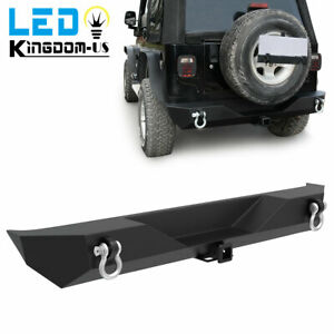For 2007 2018 Jeep Wrangler Jk Rock Crawler Stinger Front Bumper fog Light Hole
