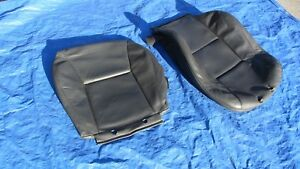 02 05 Saab 9 5 Aero Charcoal Driver Left Side Leather Seat Covers 2 Peices Rare