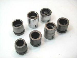 7 Large 1 Drive Sockets Apex Snap On Williams 1 1 16 To 1 1 2