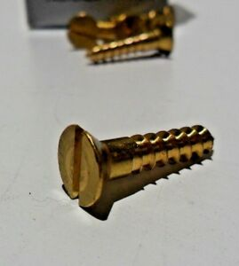 Midwest Fasteners 12 Brass Flat Head Wood Screws 100ct Various Lengths