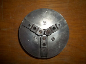 Vintage 8 Pratt Burnerd 3 jaw Metal Lathe Chuck Has Normal Wear And Tear