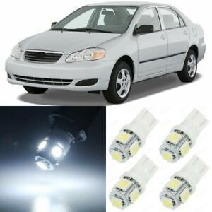 10 X Xenon White Interior Led Lights Package For 2000 2008 Toyota Corolla tool