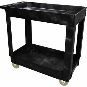 Rubbermaid 2 shelf Cart 500 lb Capacity Model Fg9t6600bla