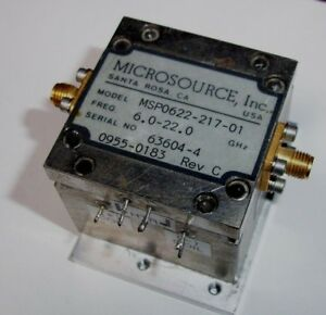 Microsource Yig Filte R Msp0622 217 01 From Hp8673d 6 0 22 0 Ghz