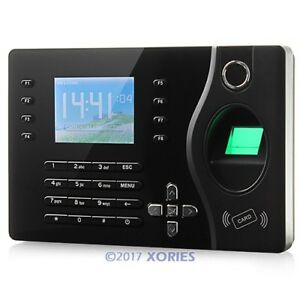 Biometric Fingerprint Attendance Time Clock With Rfid Card Reader tcp ip usb
