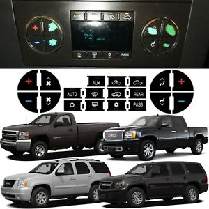 2007 2013 Tahoe Sierra Yukon Silverado Climate Control Button Stickers New Usa