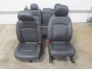 12 13 Buick Lacrosse Black Leather Seats Memory Driver Left Right Front Back Set