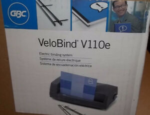 New Gbc Velobind V110e Electric Binding System Machine 200 Sheet Bind 24 Punch