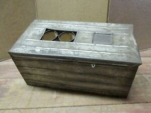 Antique Metal Egg Crate W Dividers For 3 Dozen Eggs Early 1900s Farm
